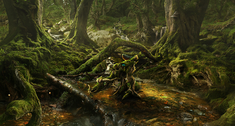 The Moss Dragon at Amberfall